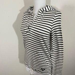 Roxy sz X SM hoodie lightweight knit blk/white